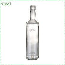 Recycled clear tall tequila empty liquor glass bottles