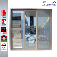 2016 year design double glass sliding mosquito screen door and window made in china
