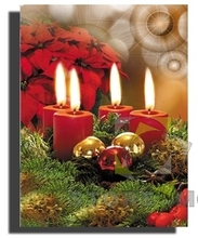 Lighted Up Christmas Candle Canvas Outdoor Wall Art Painting