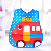 New arrival EVA material multi colors children cartoon picture large baby bibs with snaps
