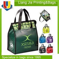 Coloful Laminated Insulated Cooler Bag, Lunch Cooler Bag, Picnic Cooler Bag For Frozen Food