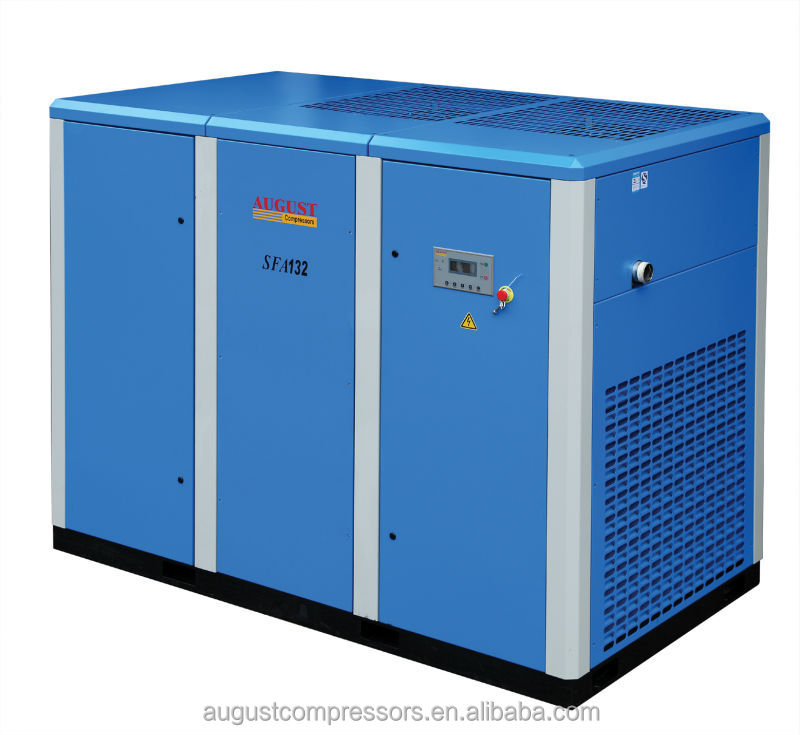 SFA132C 132KW/180HP 13 bar AUGUST stationary air cooled screw air compressor breathing air compressor