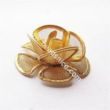 Beadsnice filigree wedding decorations Brass net flake beading 19.5x19.5mm hole:about 1.5mm accessories for women