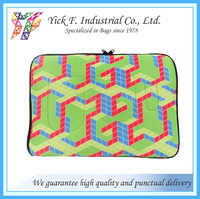 "Neoprene with cubic printing pattern Laptop bag up to 15"" laptop"