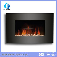 High temperature 4mm ceramic glass fireplace doors for electricity fireplace