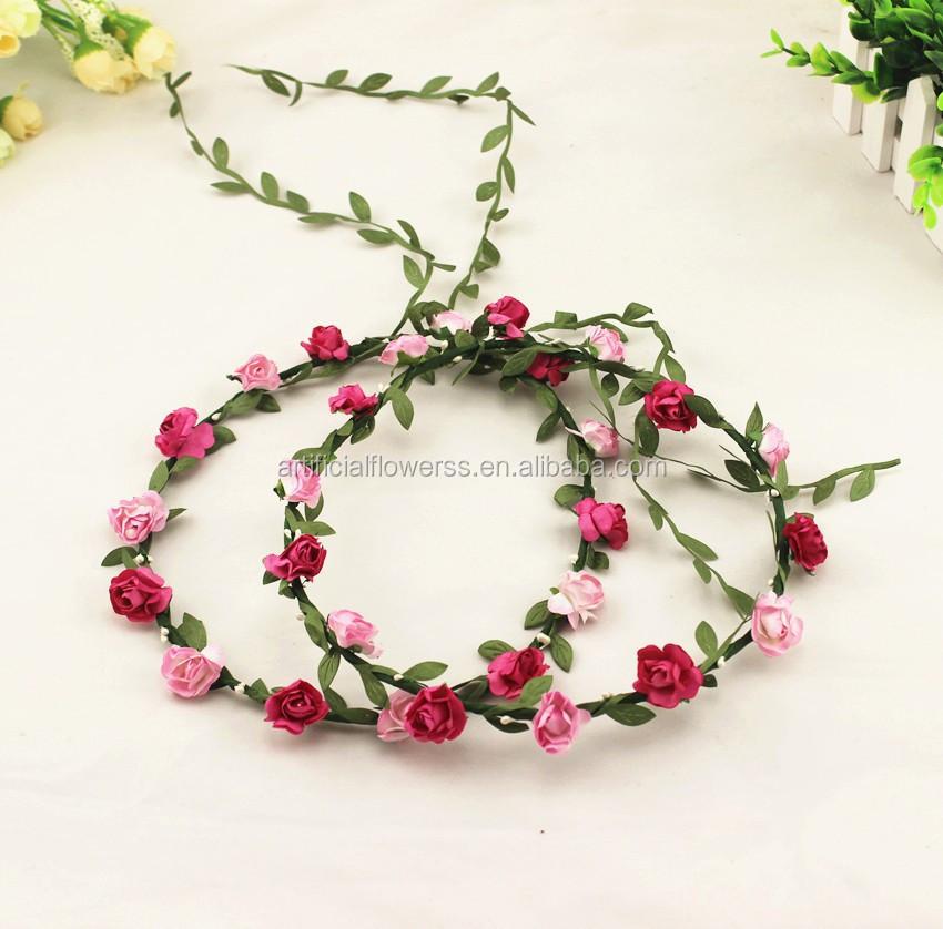New Handmade Silk Floral Hair Wreath And Flower Head