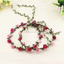 New Handmade Silk Floral Hair Wreath and Flower Head Garland