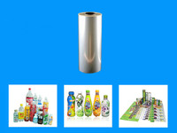 Clear PVC Thermo Heat Shrink Plastic Film For Drinking Bottle Packaging