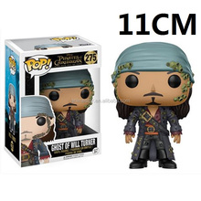 Hot sale funko pop Pirates of the Caribbean William Turner anime plastic figure for kid gifts