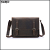 Vintage italian leather men shoulder satchel bag