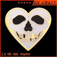 Custom cool lapel pin, high quality Skeletons badge