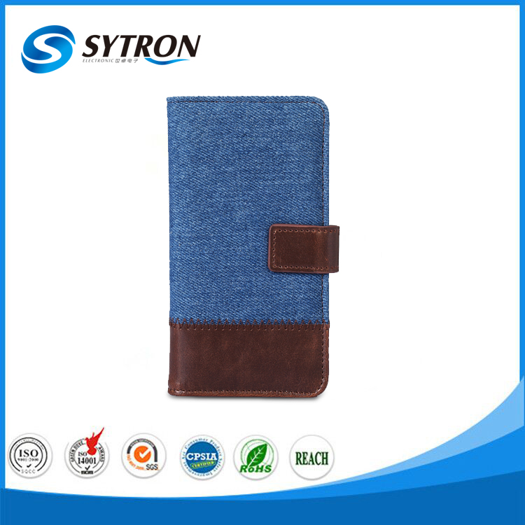 Hot Selling Retro Jeans Canvas PU Leather Cell Phone Case for Lenovo PHAB Plus