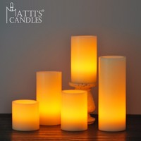 Matti's Paraffin Wax Flat Led Light Candle Lights/Led Candle Remote/Artificial Candle