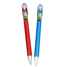 Hot sale advertising gift ballpoint pen decorated red wine shape clip form direct factory