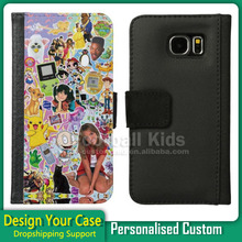 Factory price custom printing case for for Samsung galaxy s6, custom design leather flip case cover forSamsung galaxy s6