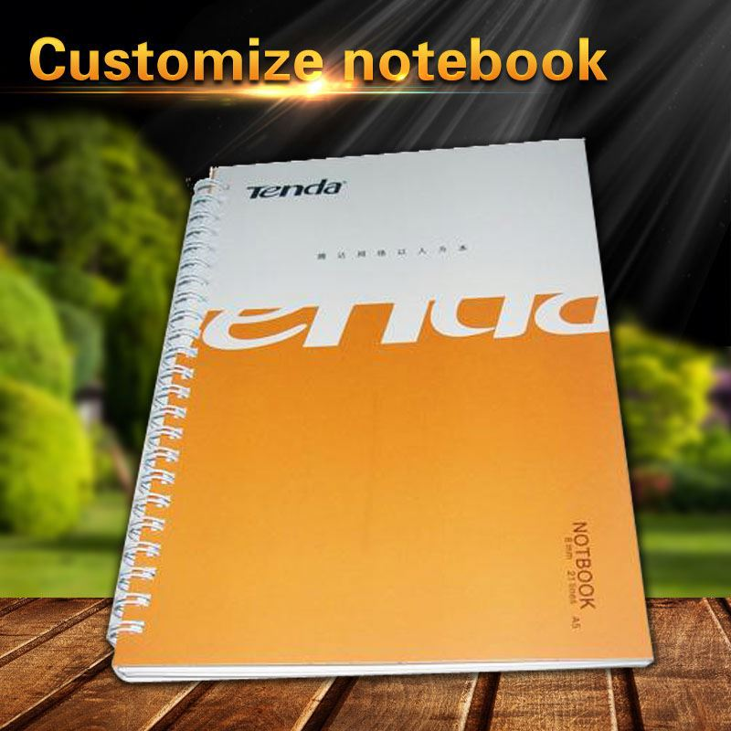 Best quality stationery spiral winding recycle notebook with pen and elastic