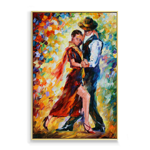 Man And Woman Dancing Art Abstract Nude Dance Couple Oil Painting