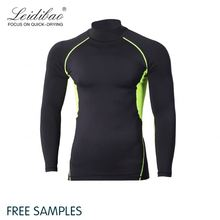 High Quality Custom Fashion Elastane Stretch Fit O Neck Casual Wear Men Workout Shirt