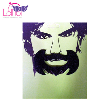 Children Adult one size black moustache and beard for party dress up