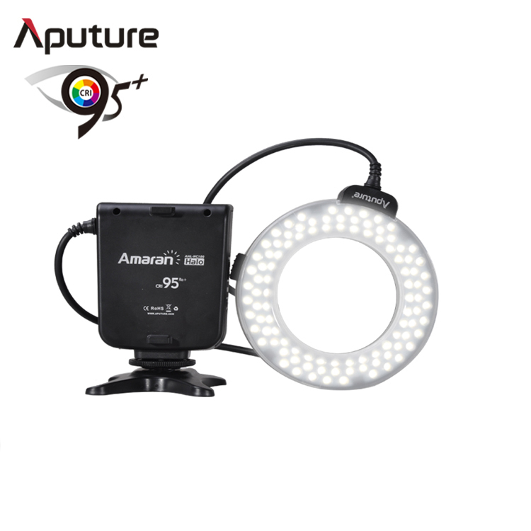 2016 Aputure HN100 CRI 95+ Halo LED Ring Flash LED light For Camera with multiple mounted method