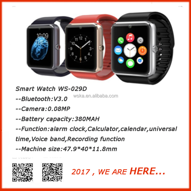 Bluetooth watch WS-029D smart watch phone and hot sale for Eroupe Markert