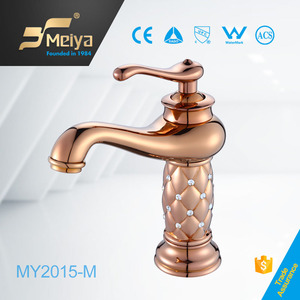 Bronze colored golden crystal decorated basin faucet,bronze faucet bathroom