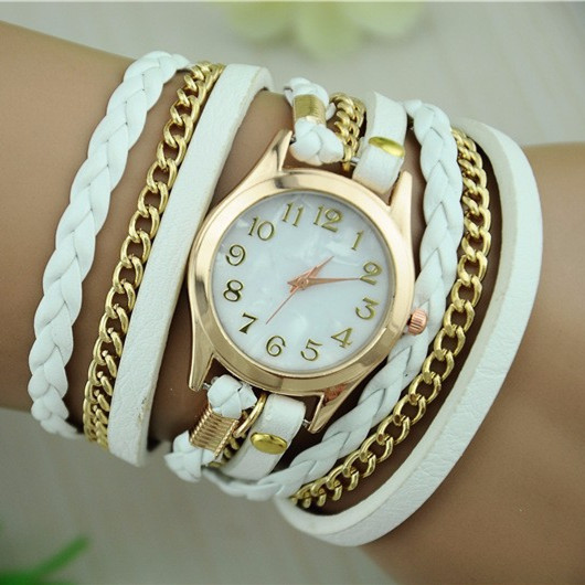 Hot Sale Fashion Chain Weave Women Bracelet Watch Luxury Lady Dress Quartz Watch Women Wristwatch Montre Femme Reloj Mujer Clock