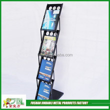 factory supply metal big wire magazine display rack