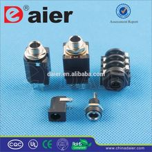 Daier 2.5mm earphone jack plug
