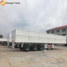 Popular 3 axle 40 tons and 60 tons enclosed cargo semi trailer for sale