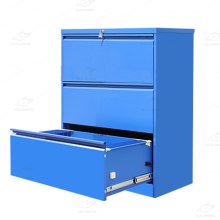 Office furniture hanging A4 F4 folder storage metal 3 drawer steel file cabinet