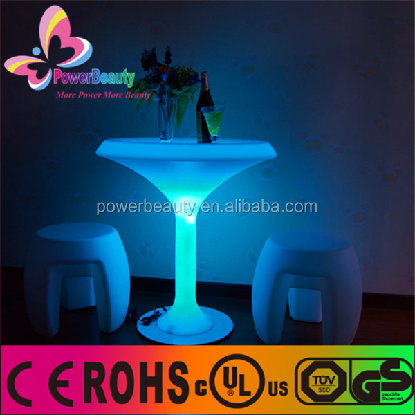 Multi color changing bar table lighting hard plastic led lighting standing cup table