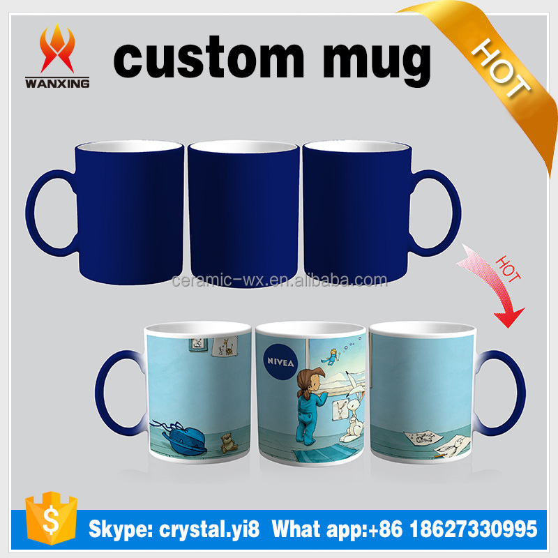 Hot sale color changing mug and heat changed mug Skype: crystal.yi8 or What app:+8618627330995