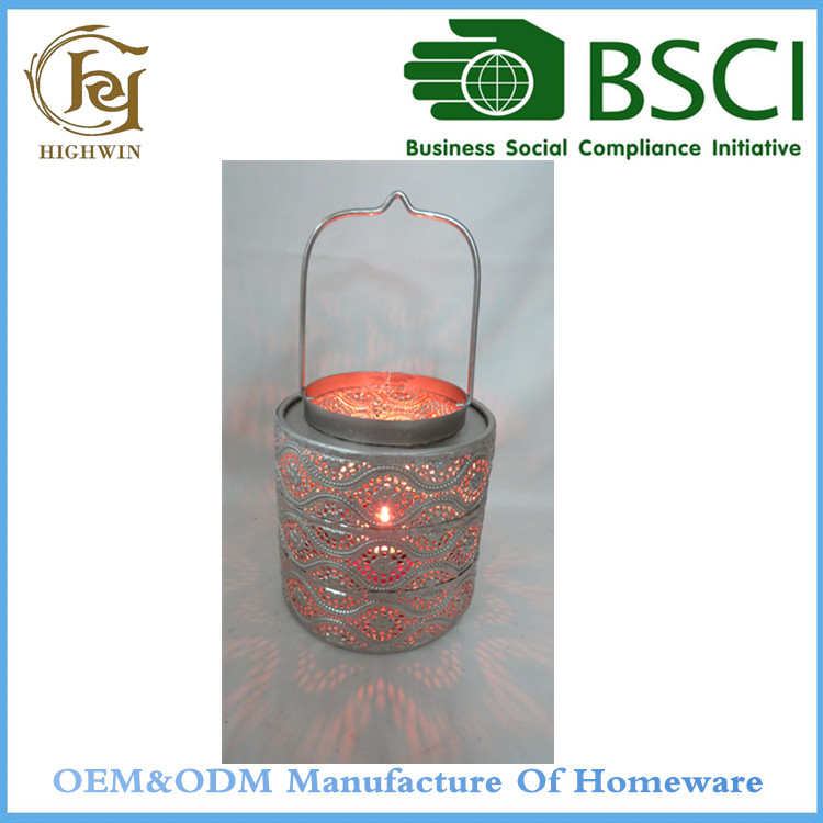 Metal Galvanized Indian Lanterns Candle Holders