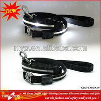 Black Nylon Dog Leashes Leads 4 or 6 foot Bright