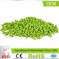 Pigment Concentration Plastic Color Green PE Filler Masterbatches