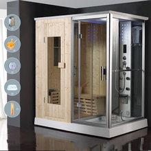 HS-SR013 sauna with steam shower/ sauna bath indoor steam shower room