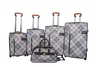 4 pcs hot sale high quality trolley sky travel luggage bag