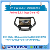 Factory sales cheap car dvd player for JEEP grand Cherokee 2014 2015 2016 2017 car multimedia player gps 2 din support wifi swc