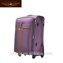 Purple 600D travel luggage bag/luggage trolley bag