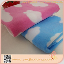 Hot sale korea polyester cloud print polar fleece knee blanket