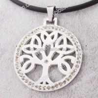 fashion stainless steel crystal pendant tree of life sculpture