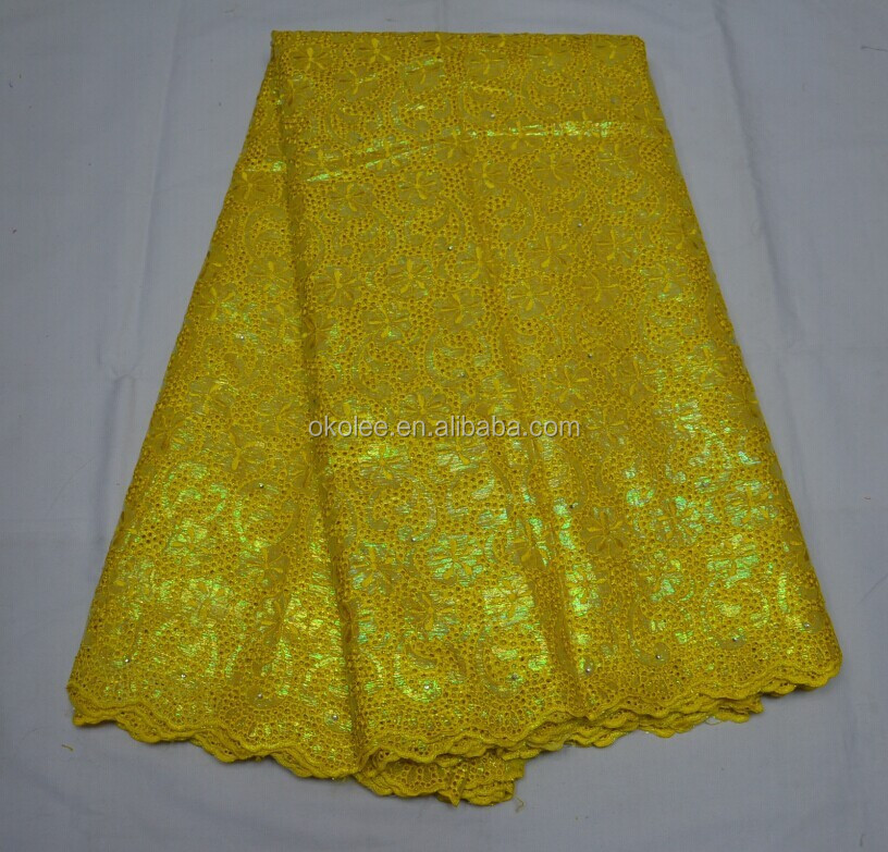 Good quality french lace curtains yellow color 5yards