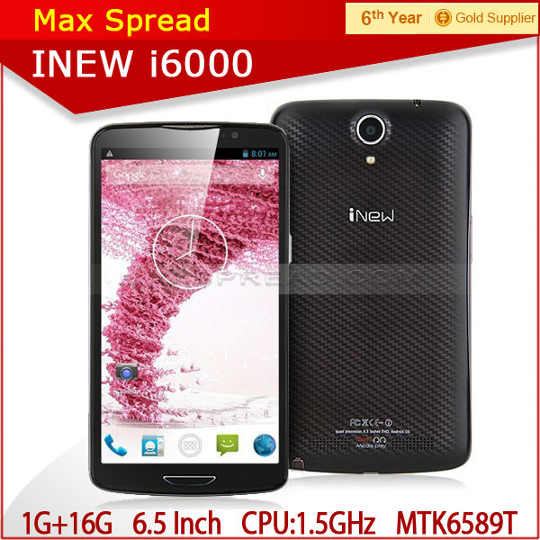 "inew i600 with 6.5""MTK6589T quad core 1920X1080p 1.5ghz android 4.2 2gb ram 32gb rom 3150mAh 13.0MP original smart phone"