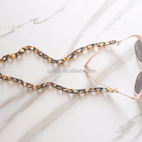 Newest Brown Tortoise Eyewear Chain Glasses