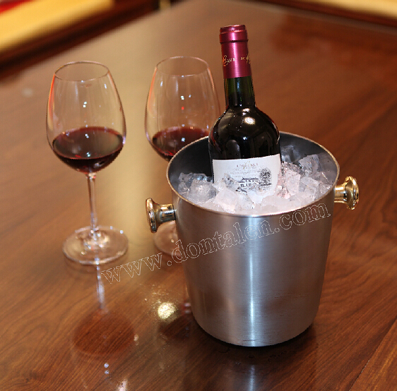 Wine Champagne Bucket Cooler Holder Chill Polished Stainless Steel Ice