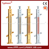 Typhoon aluminum profile wrought iron bars for windows and stairs