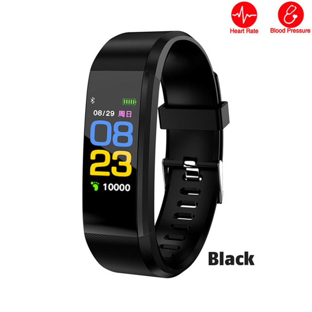 ID115 PLUS Color Screen smart band Sports Pedometer Watch Smart Bracelet with fitness tracker Heart Rate Pedometer