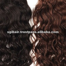 curly hair and supreme remy hair weave