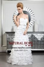 2012 new arrival silk chiffon Wedding dress Japan imported organza on the beaded with silver embroidery NW1214